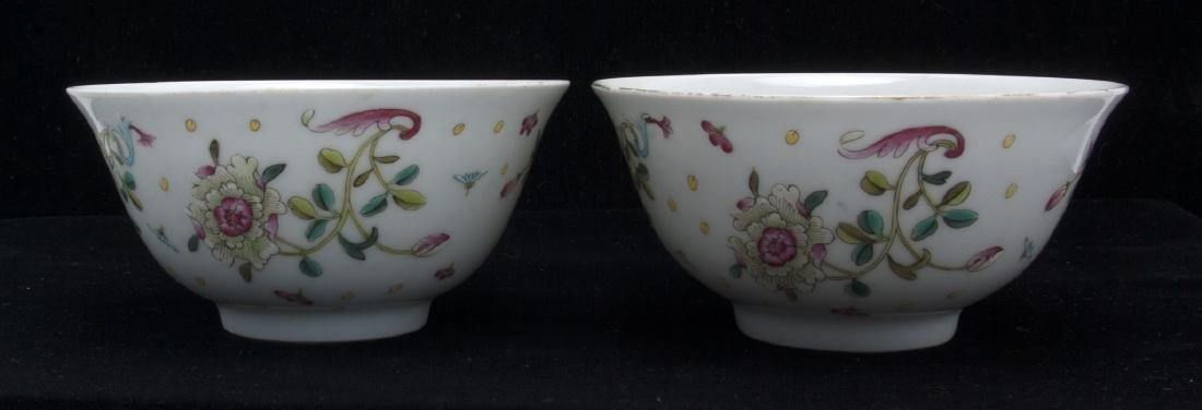 TWO PORCELAIN FLOWERED BOWLS - 5