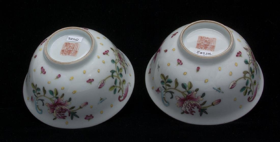 TWO PORCELAIN FLOWERED BOWLS - 6