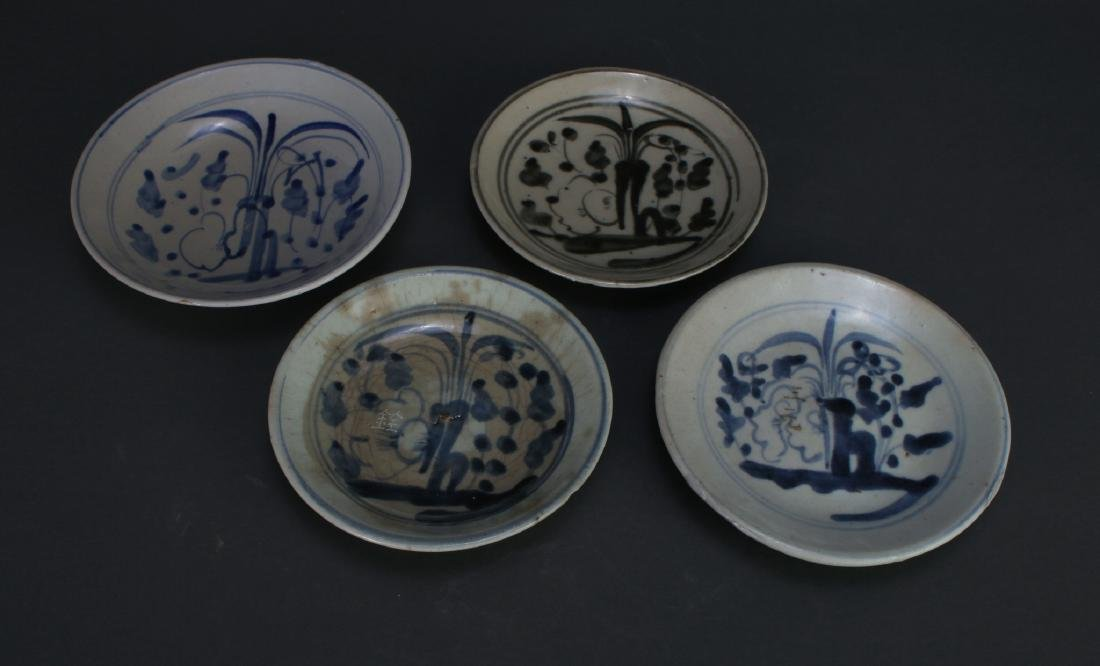 FOUR MING DYNASTY SAUCERS - 2