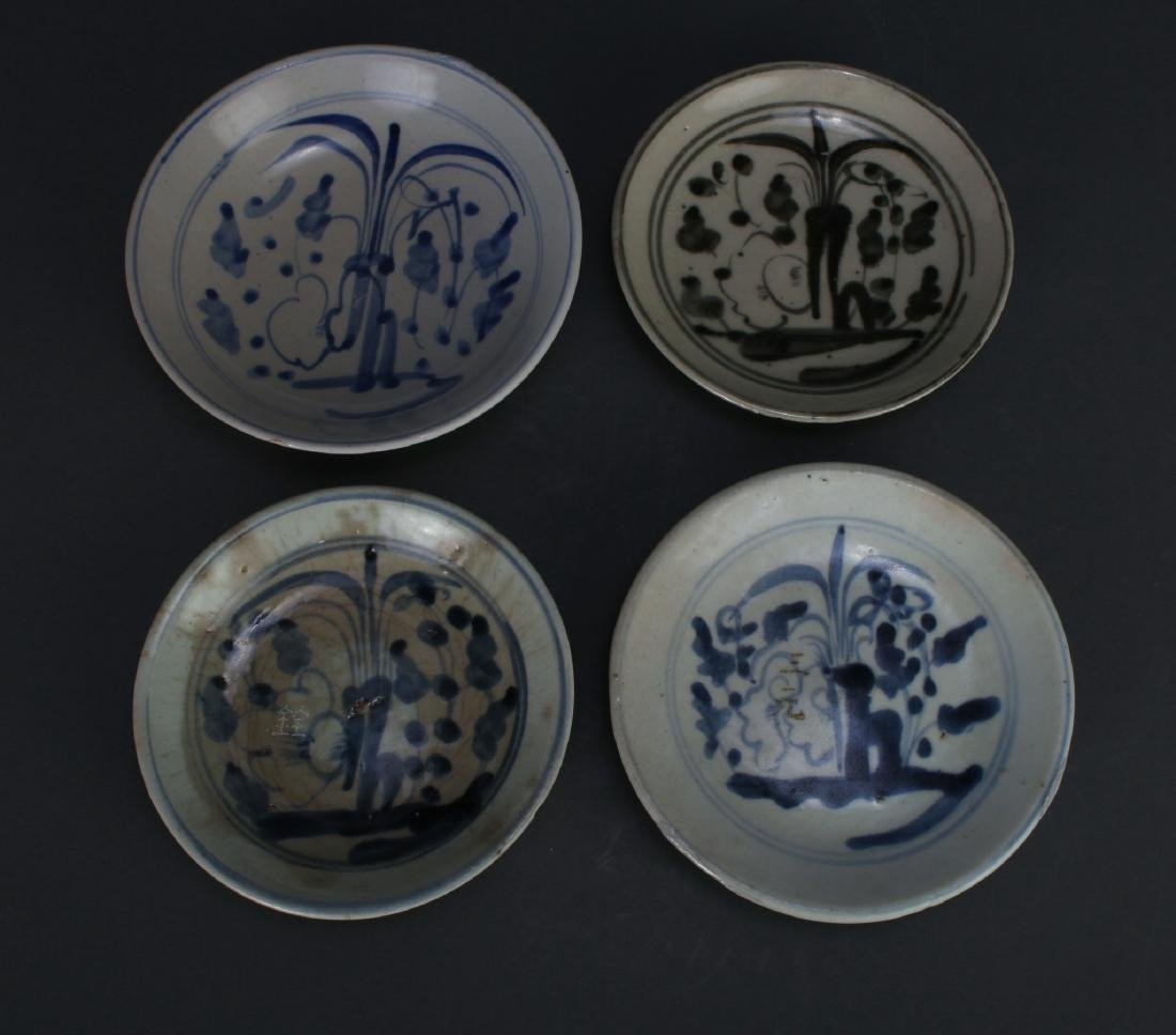 FOUR MING DYNASTY SAUCERS - 3