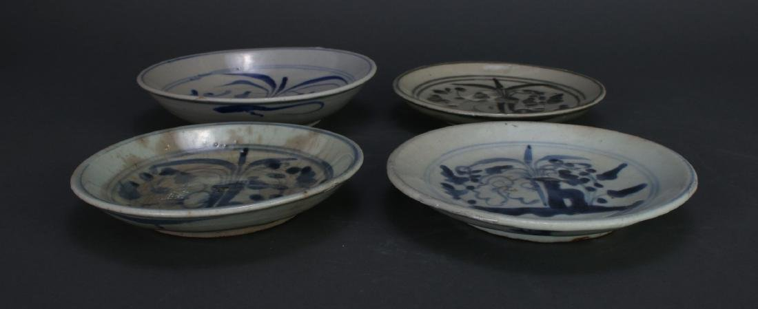 FOUR MING DYNASTY SAUCERS - 4