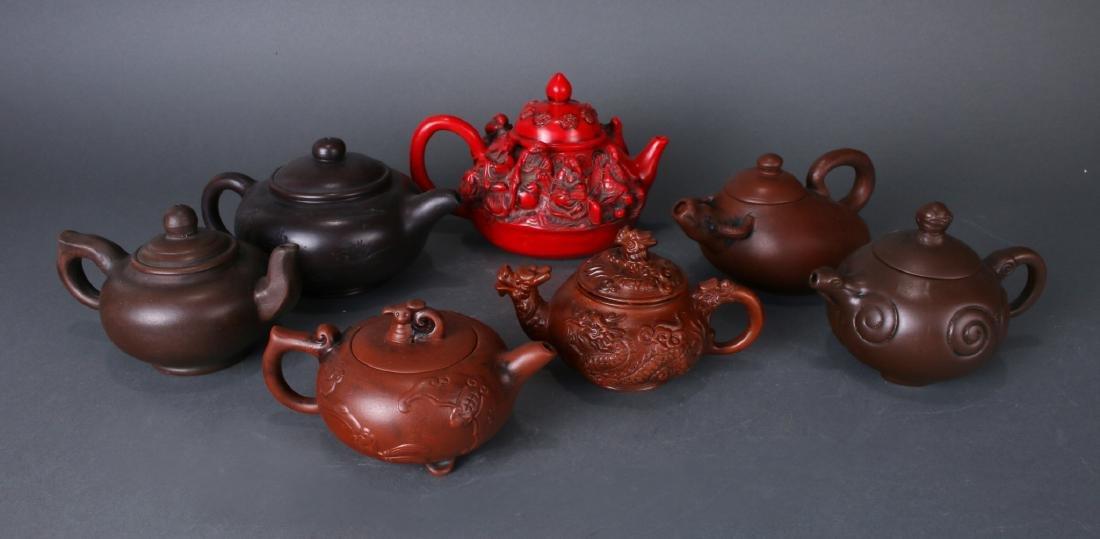 7 TEA POTS