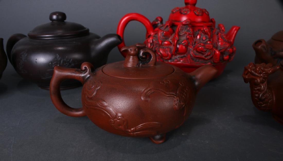 7 TEA POTS - 5