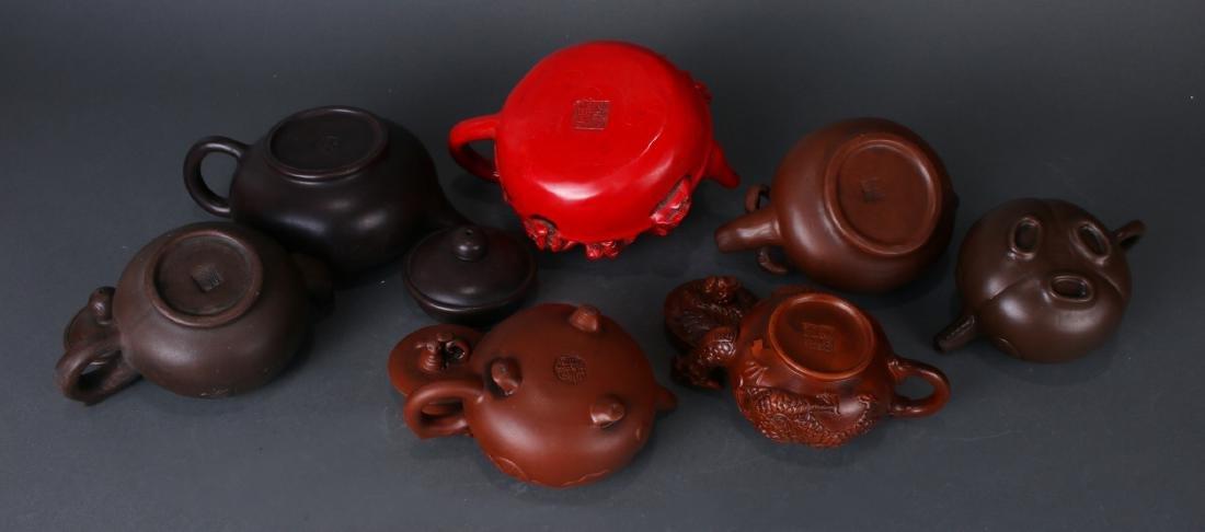 7 TEA POTS - 6