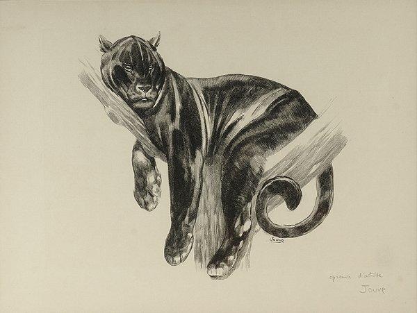 3: PAUL JOUVE (1878-1973) «Panthère branchée» Original