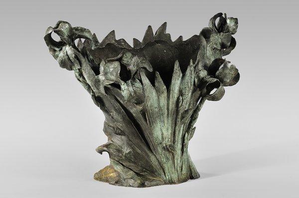 6: JOSEPH D'ASTE (XIXe-XXe) Vase forming a flower pot h