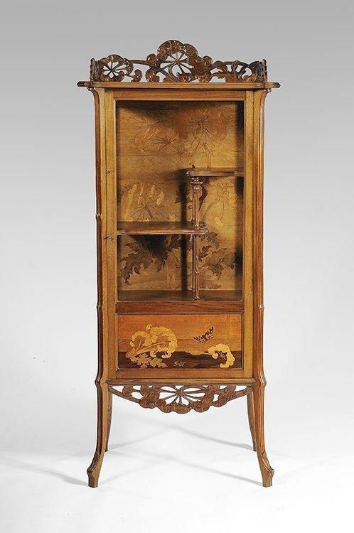11: EMILE GALLÉ (1846- 1904) Rare glass cabinet known a