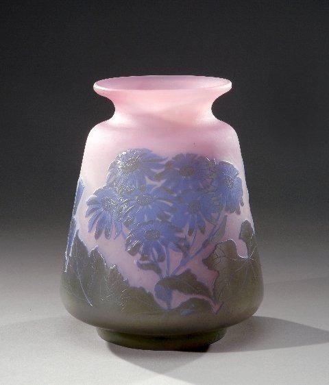 21: ÉMILE GALLÉ (1846-1904) Flattened cone shaped glass