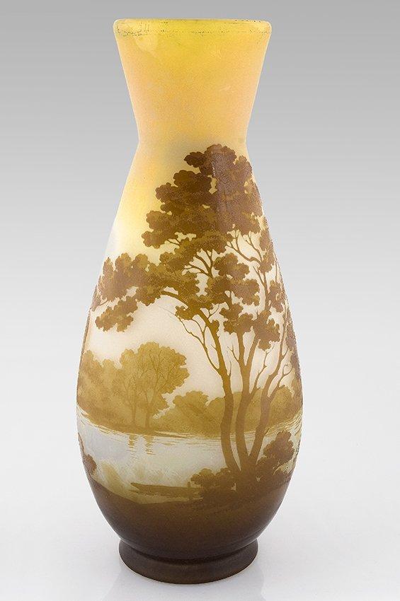 22:  ÉMILE GALLÉ (1846-1904) Piriforme vase with flared