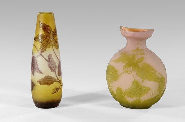 24: ÉMILE GALLÉ (1846-1904)Ovoid vase with slim neck, w