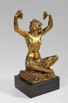 MARCEL BOURAINE (1886-1948) Gilded Bronze Proof Sta