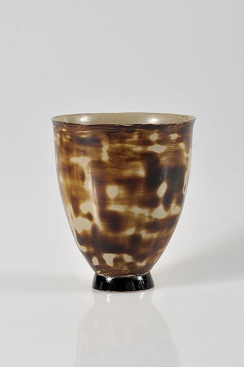 57: JEAN DUNAND (1877-1942) Small vase on pedestal in l