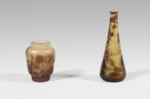 271:  ÉMILE GALLÉ (1846-1904) Vase tronconique en verre