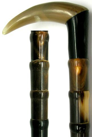 517: EXCEPTIONAL SECTIONAL HORN WALKING STICK CANE