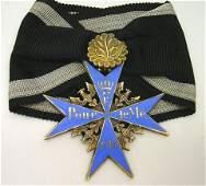 639: WWI GERMAN BLUE MAX MEDAL WITH OAK LEAF