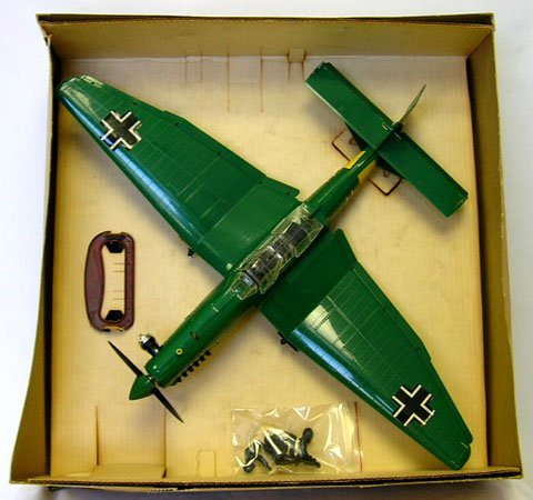 769: 1960'S COX THIMBLE DROME GERMAN STUKA GAS AIRPLANE