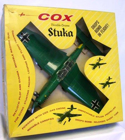 769: 1960'S COX THIMBLE DROME GERMAN STUKA GAS AIRPLANE - 2