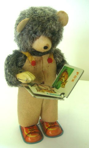 827: 1950'S CUBBY THE READING BEAR TOY WITH BOX - 2