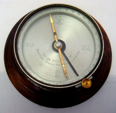 990: C.1920's BOSTROM-BRADY MFG. ATLANTA GA COMPASS