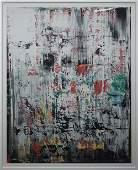 "Gerhard Richter - Eis 2 - 2003 Serigraph 43.5"" x 35.5"""
