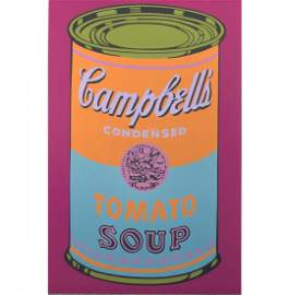 """Andy Warhol - Campbell's Soup - 1968 Serigraph 15.25"""""""
