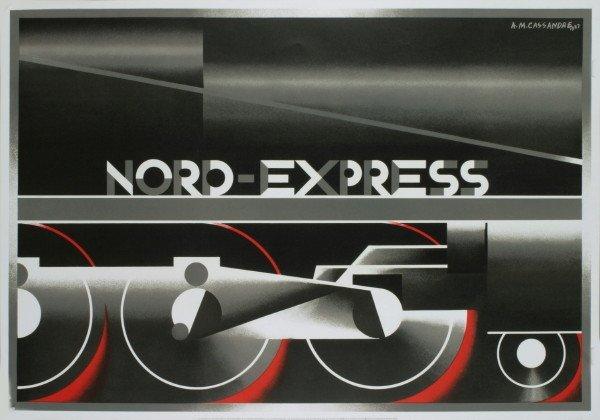 101019: 1995 Cassandre Nord-Express Lithograph