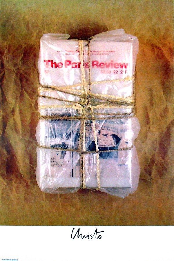 101124: 1982 Christo Wrapped Paris Review Lithograph