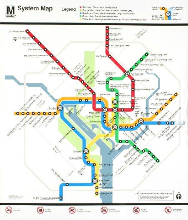 121021: Anonymous Washington Metro Map Serigraph
