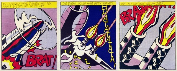 121114: Lichtenstein As I Opened Fire Triptych