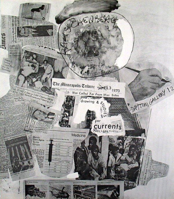 121699: 1970 Rauschenberg Currents Offset Lithograph