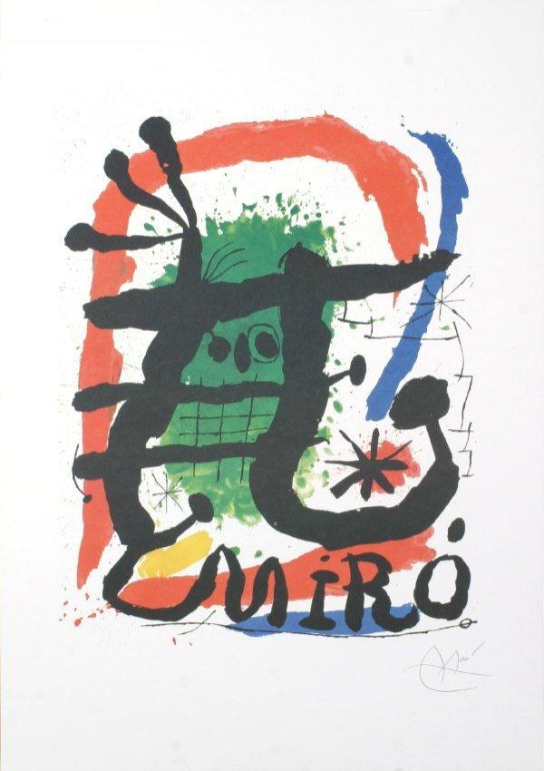 121714: Miro XXieme Siecle Offset Lithograph