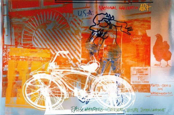 121984: Rauschenberg Bicycle National Gallery Foil Prin