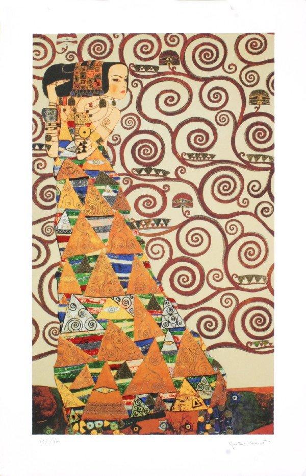 122053: 2007 Klimt Expectation Serigraph