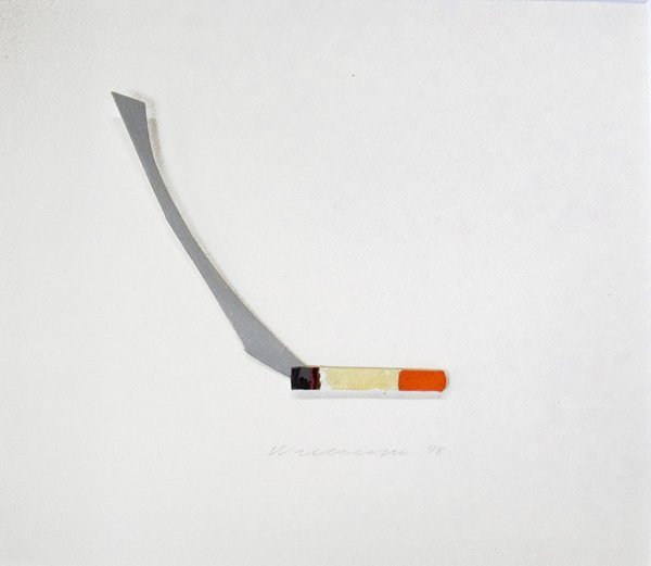 369858B: Signed 1998 Wesselmann Cigarette collage