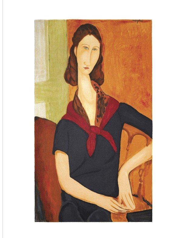 122084: Modigliani Jeanne Hebuterne Lithograph