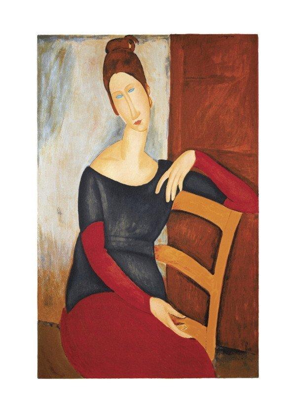 122085: Modigliani Jeanne Hebuterne Lithograph