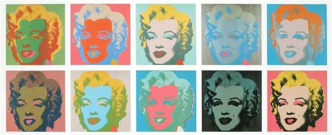 Andy After Warhol - Marilyn portfolio of TEN prints