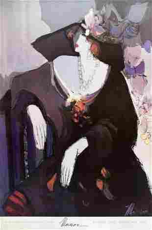 Isaac Maimon - Portrait of Francesca - 1992 Offset