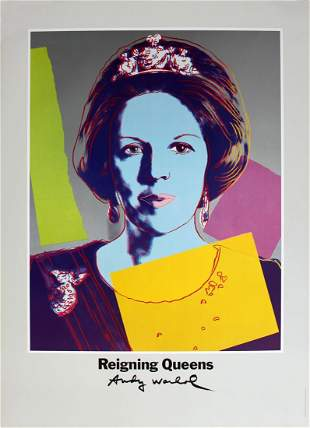 Andy Warhol - Queen Beatrix of the Netherlands, from