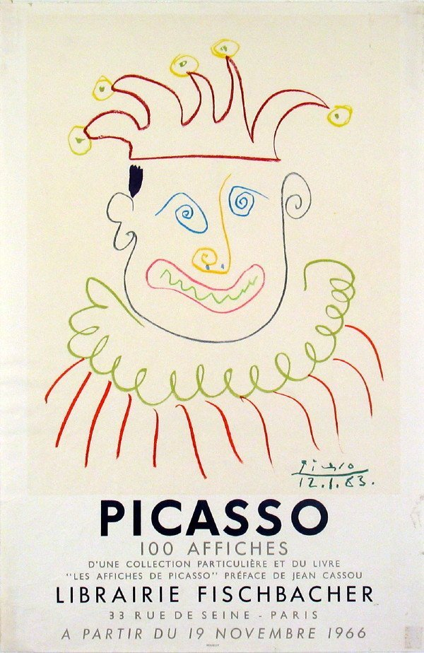 15021: 1966 Picasso Galerie Motte-Geneve Lithograth