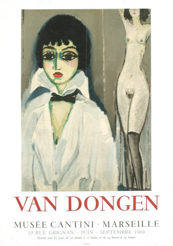 155052: 1969 van Dongen Musee Cantini Mourlot Litho