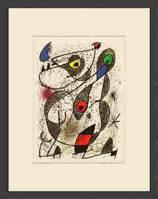 """Joan Miro - A L'Encre II - 1972 Lithograph 20"""" x 16"""""""