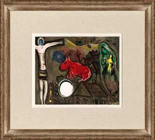 "Marc Chagall - Crucifixion - 1977 Lithograph 15"" x 22"""