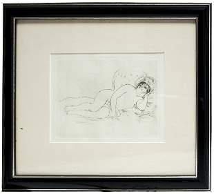Pierre-Auguste Renoir - Femme Nue Couchee vers la