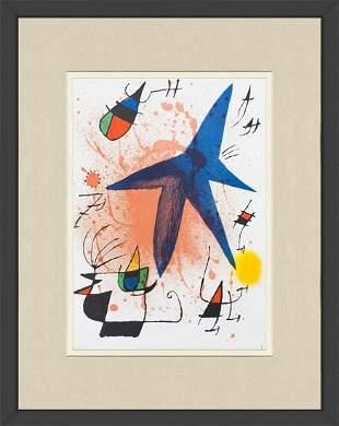 "Joan Miro - Litografia original I - 1975 Lithograph 18"""