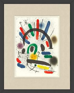Joan Miro - Litografia original II - 1975 Lithograph