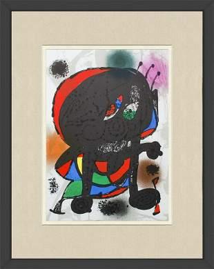 Joan Miro - Litografia original III - 1975 Lithograph