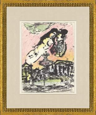 Marc Chagall - The Sky from the Place de la Concorde -