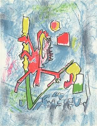 Roberto Matta - T'ou't se tient - 1975 Lithograph