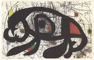 """Joan Miro - Composition x 50 cards - 1979 5.25"""" x 8"""""""